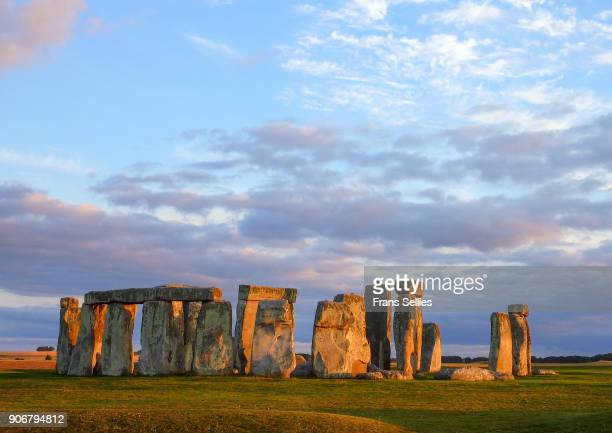 Stonehenge in the evening sun, England