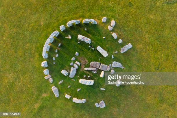 stonehenge viewed from above, unesco world heritage site, salisbury plain, wiltshire, england, united kingdom, europe - gavin hellier stock pictures, royalty-free photos & images