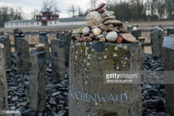 Stones are placed on a stele that is part of the memorial dedicated to the murdered Sinti and Roma at the memorial site of the former Nazi...