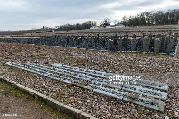 Stones are placed on steles that are part of the memorial dedicated to the murdered Sinti and Roma at the memorial site of the former Nazi...