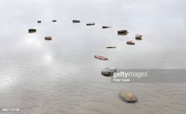 stones in water shaped into question mark - uncertainty stock pictures, royalty-free photos & images