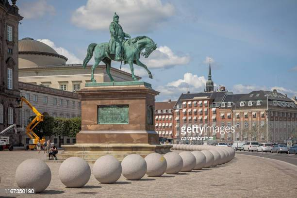 stones outside the danish parliament - terrorism stock pictures, royalty-free photos & images