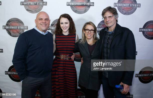 Stonestreet Studios founders Alyssa Rallo Bennett and Gary O Bennett join Ted Slubmerski and Rachel Brosnahn during the celebration of Rachel...