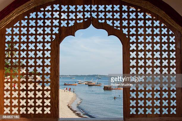 stonetown beach - zanzibar stock photos and pictures