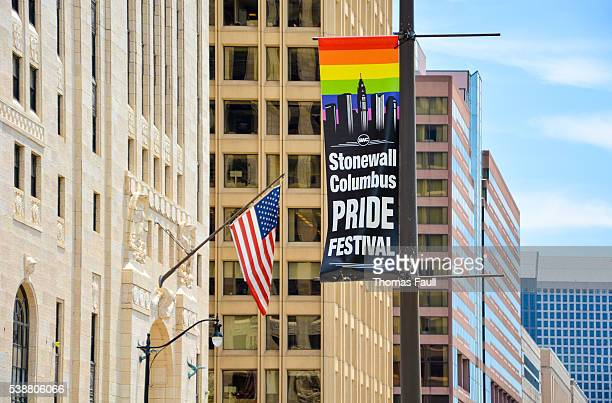 Stonewall Columbus Pride Festival and US Flag