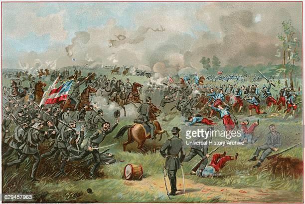 """Stonewall Jackson at the Battle of Bull Run"" American Civil War USA 1861"