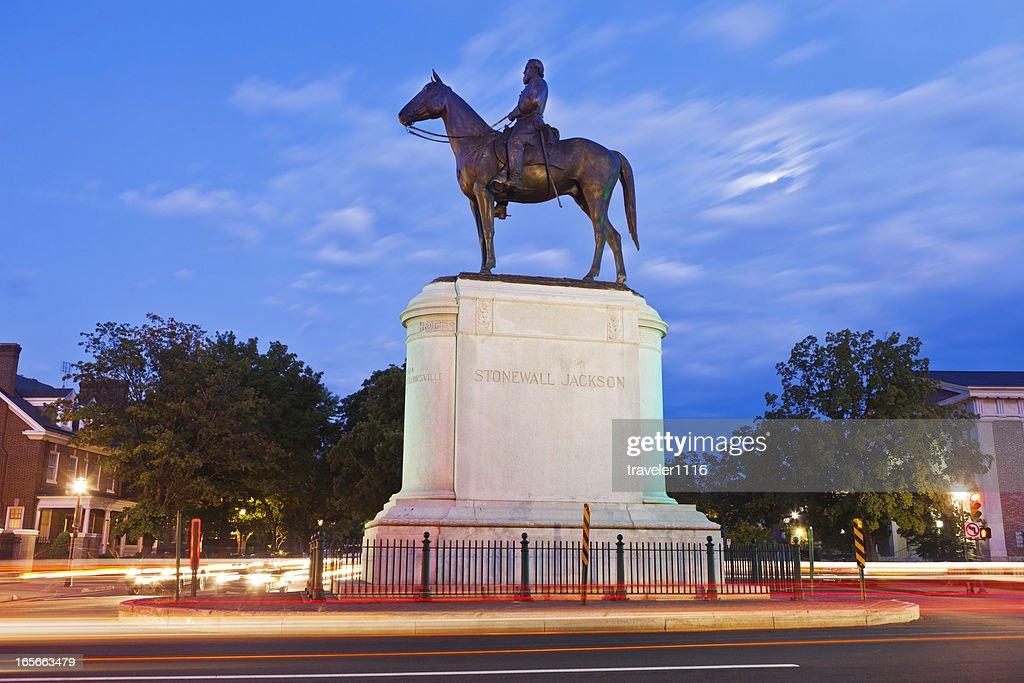 Stonewall Jackson Monument In Richmond, Virginia : Stock Photo