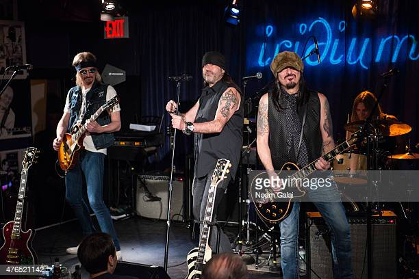Stoney Curtis Danny Koker and John Zito of Count's 77 perform at Les Paul's 100th anniversary celebration jam session at Iridium Jazz Club on June 9...