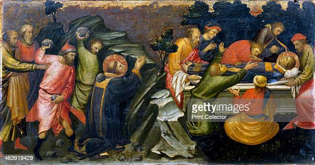 Stoning and burial of St Stephen, the first Christian martyr, c36 .