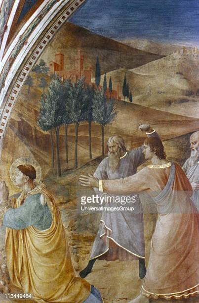 Stoning of St Stephen' Fra Angelico Italian painter Fresco Chapel of Nicholas V Vatican Palace