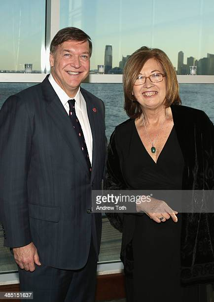 Stony Brook President Samuel L Stanley Jr and honoree Dr Patricia C Wright attend the Stars of Stony Brook Gala 2014 at Chelsea Piers on April 16...