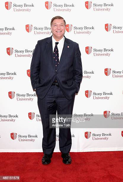 Stony Brook President Samuel L Stanley Jr attends the Stars of Stony Brook Gala 2014 at Chelsea Piers on April 16 2014 in New York City