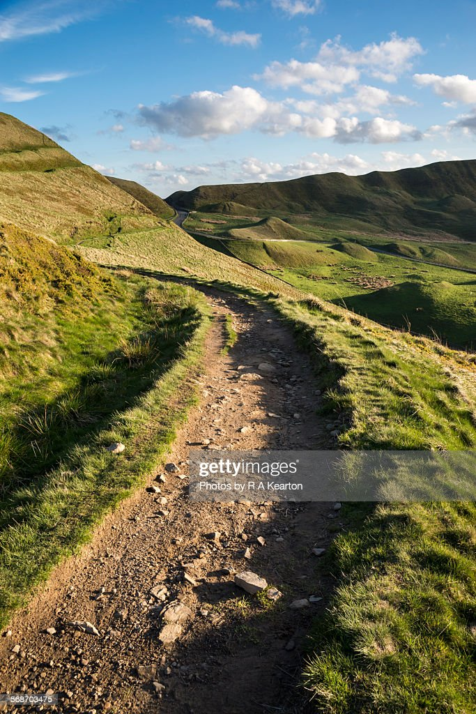 Stony footpath in the hills : Stock Photo