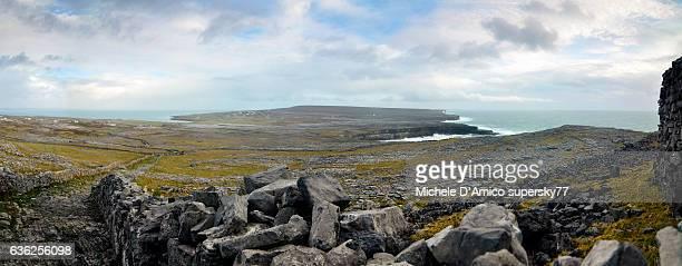 Stony landscape in Inishmore, Aran Islands.