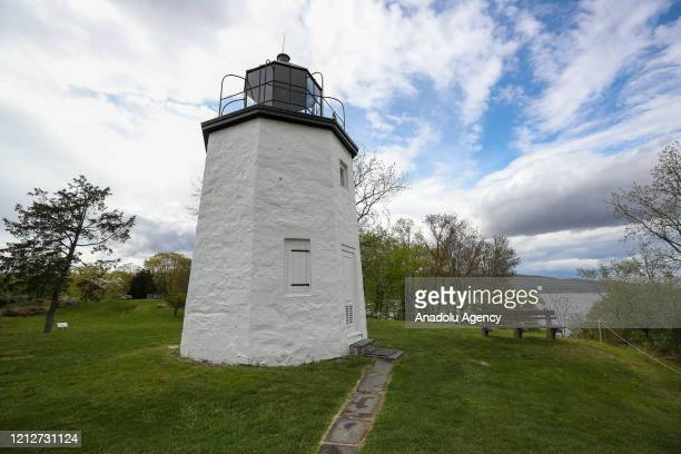 Stony Point Lighthouse is seen at the Stony Point Battlefield historical landmark and state park which is quite during Covid-19 pandemic in New York,...