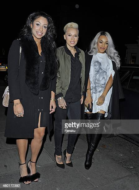 Stooshe attending Metro's Guilty Pleasures Christmas Party as free daily paper's showbiz column marks the festive season and announces the winner of...