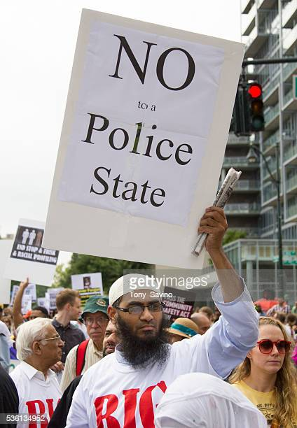 Stop and Frisk March Tens of thousands of New Yorkers participated in a silent march to protest NYPD racial profiling including the Stop and Frisk...