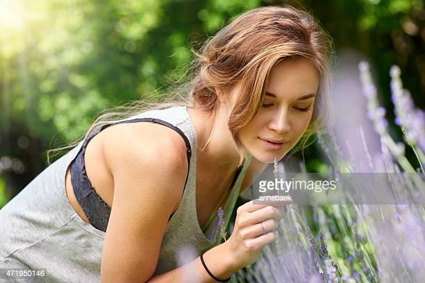Haltestelle und der Duft von Lavendel