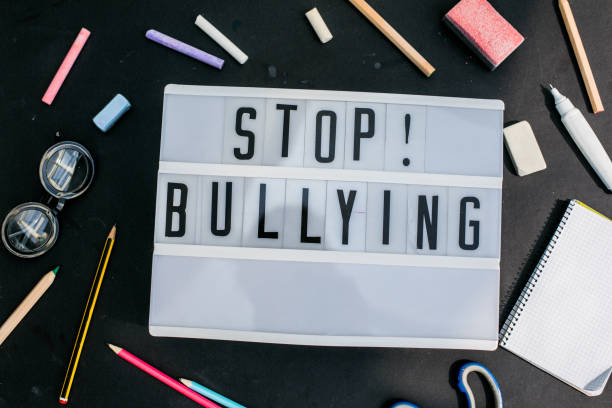 stop bullying - cyberbullying stock pictures, royalty-free photos & images