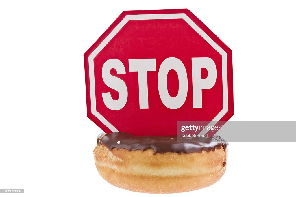 Stop Eating Doughnuts : Stock Photo