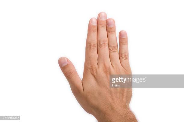 Arrêtez-vous à la main