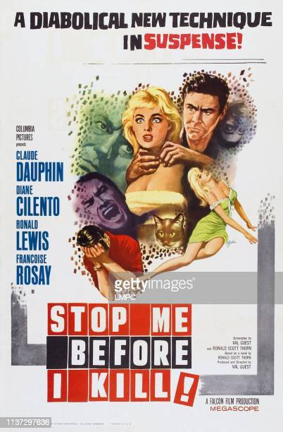 Stop Me Before I Kill poster top lr Diane Cilento Ronald Lewis on poster art 1960