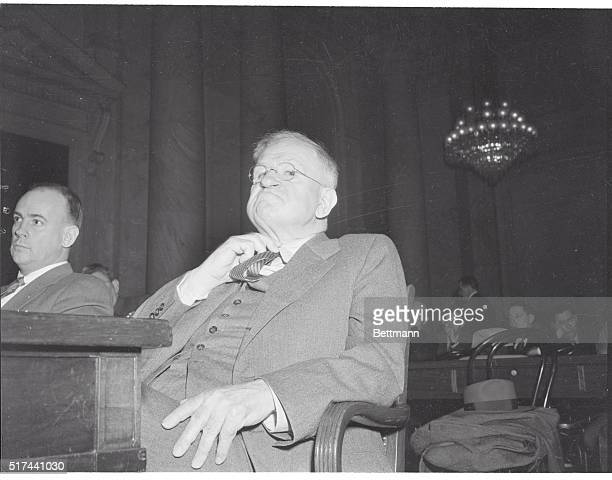 """Stop Pointing Your Finger At Me!"" Washington, D.C. -- Sen. Millard E. Tydings, , left, points finger at Ex-Secretary of the Interior Harold L...."
