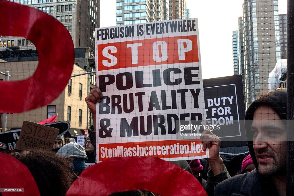USA, New York, Protesters of police killing march in New York demanding Justice For All : News Photo