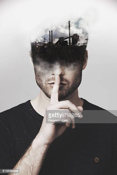 stop polluting my mind - conspiracy stock pictures, royalty-free photos & images
