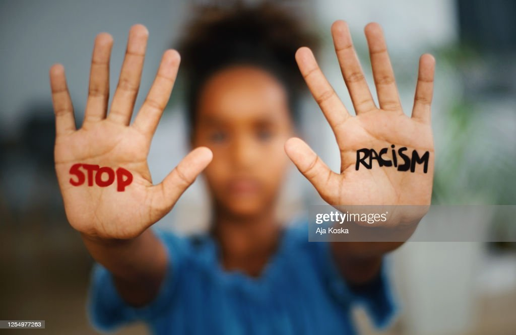 Stop racism. : Stock Photo