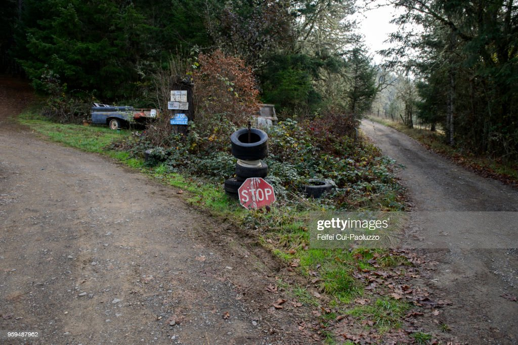 Stop sign at countryside of Tenmile, Oregon, USA : Stock-Foto