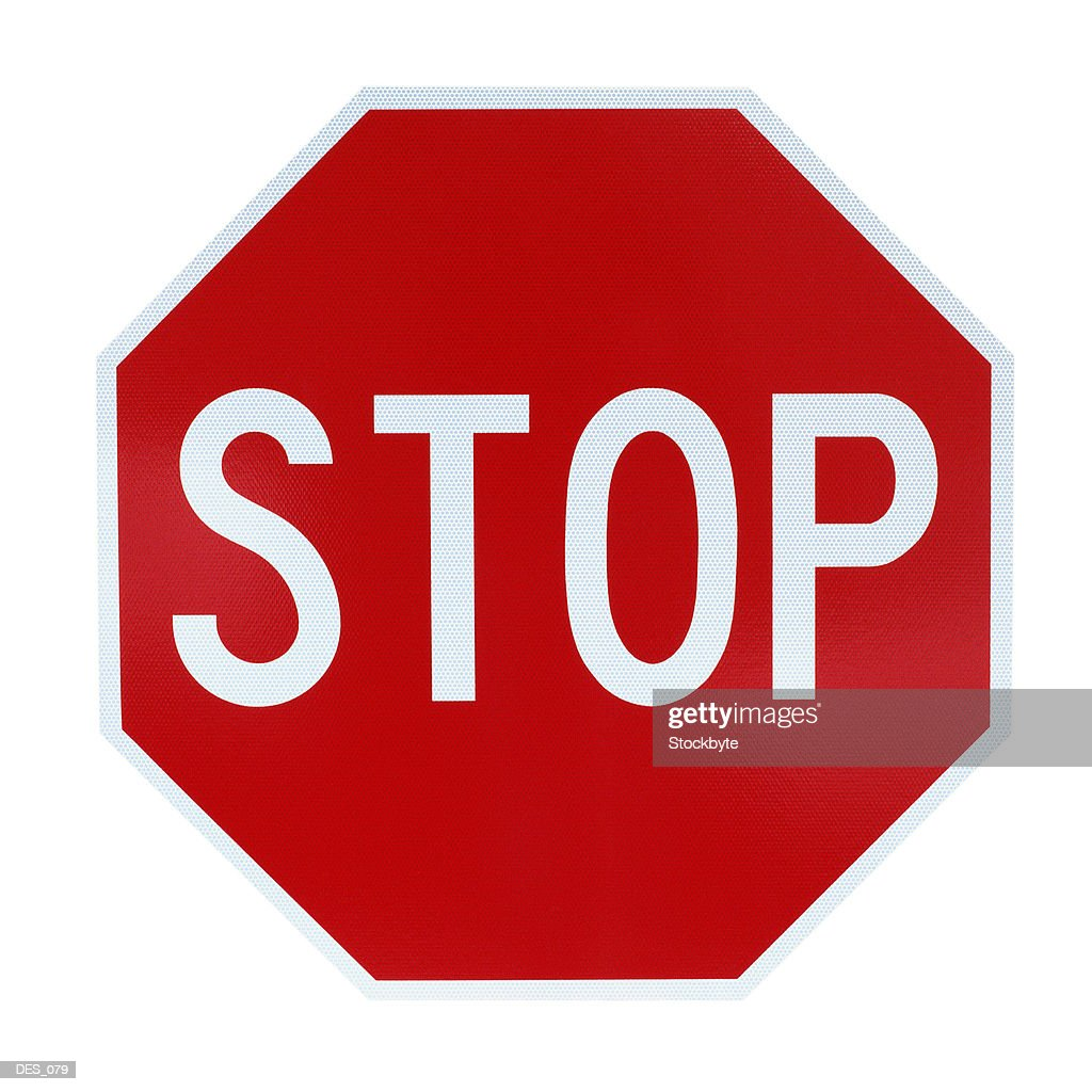 Stop sign, front view : Stock Photo
