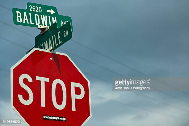 Stop sign in Hawaii