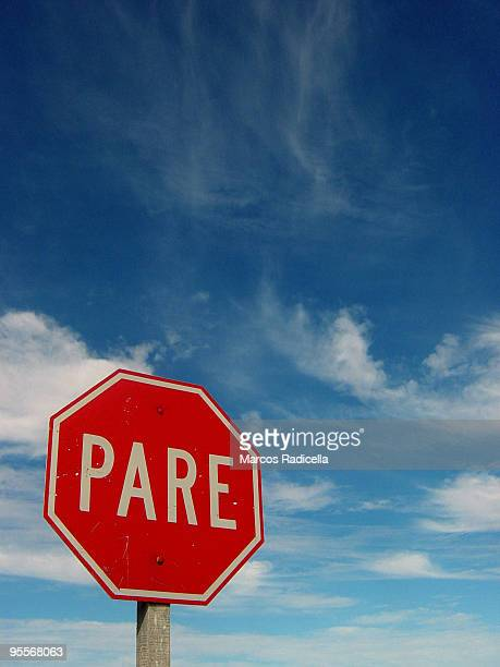 stop sign - radicella stock pictures, royalty-free photos & images