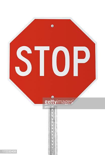 Panneau d'arrêt avec un Tracé de détourage