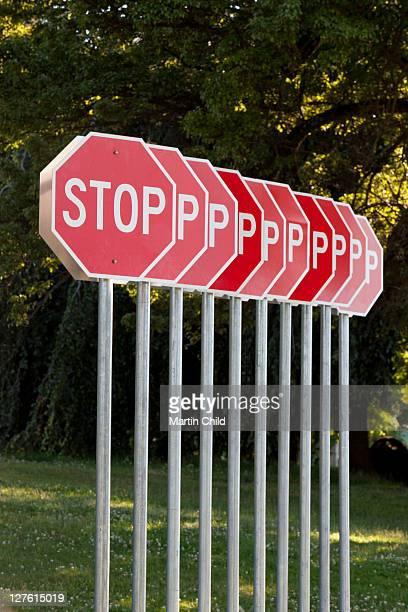 stop signs, Vanier Park, Vancouver