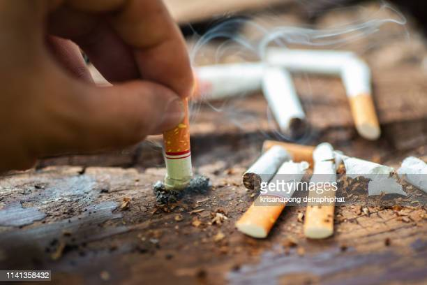 stop smoking concept. - cigarette stock pictures, royalty-free photos & images