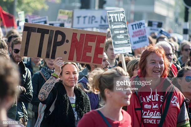 Stop TTIP Protest against TTIP and CETA in Amsterdam on October 10th 2015