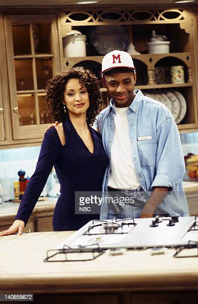 AIR Stop Will In the Name of Love Episode 18 Pictured Karyn Parsons as Hilary Banks Branford Marsalis as Duane Photo by Gary Null/NBCU Photo Bank