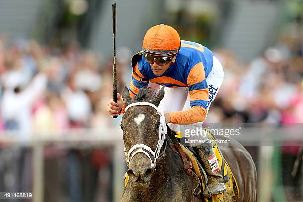 Stopchargingmaria riden by Javier Castellano wins the 90th BlackEyed Susan at Pimlico Race Course on May 16 2014 in Baltimore Maryland