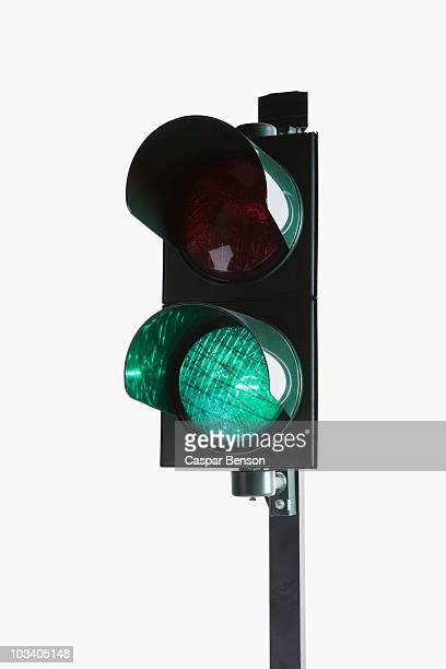 a stoplight with the green light illuminated - road signal stock pictures, royalty-free photos & images