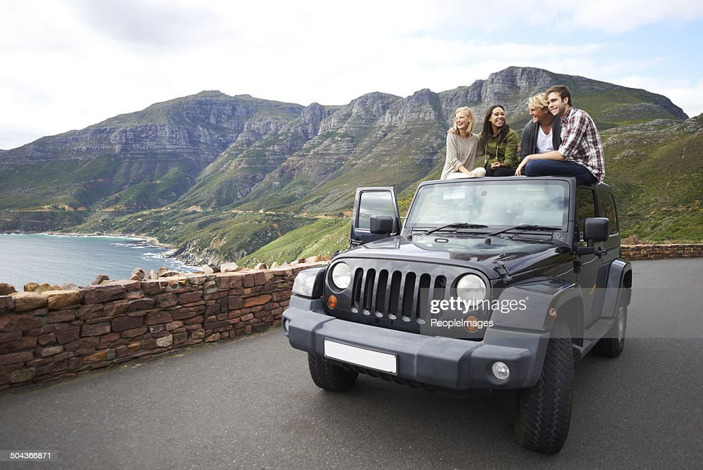 Stopping to experience the breathtaking view : Stock Photo