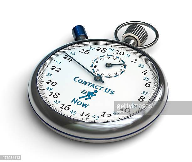 Stopwatch - Contact Us Now (clipping path)
