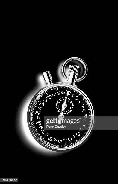 Stopwatch on black background.