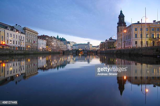 stora hamnkanalen - gothenburg stock pictures, royalty-free photos & images