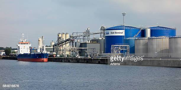 Storage tanks for storage of mineral and vegetable oils animal fats liquid fertilizers molasses biofuels and oleochemicals at SeaTank Terminal port...