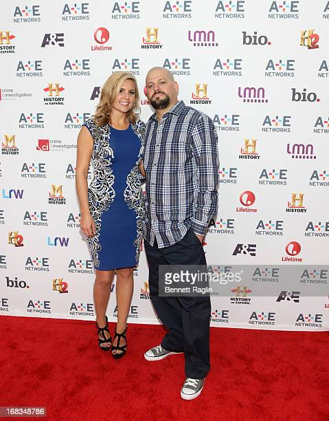 Storage Wars cast members Brandi Passante and Jarrod Schultz attend the 2013 AE Networks Upfront at Lincoln Center on May 8 2013 in New York City