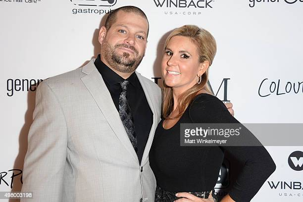 'Storage Wars' cast members Jarrod Schultz and Brandi Passante arrive at the GLAM Beverly Hills salon grand opening and ribbon cutting celebration at...