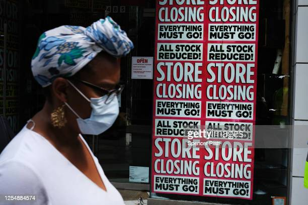 A store advertises a sale on July 07 2020 in the Brooklyn borough of New York City A report issued by the Center for New York City Affairs last week...