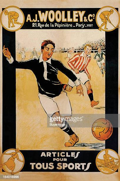 A store advertising poster from Paris France promoting its clothing lines for all sports early to mid 20th century